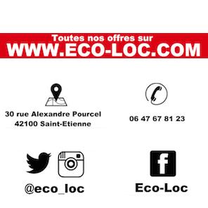 Site web Eco-loc location de mobilier