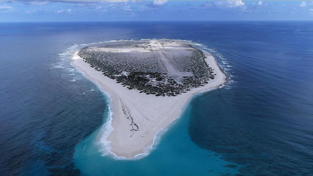 île - vue d'avion